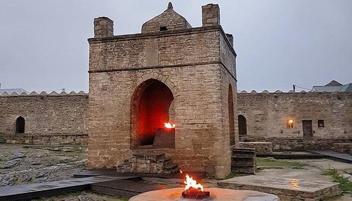 Ateshgah the fire temple of Azerbaijan