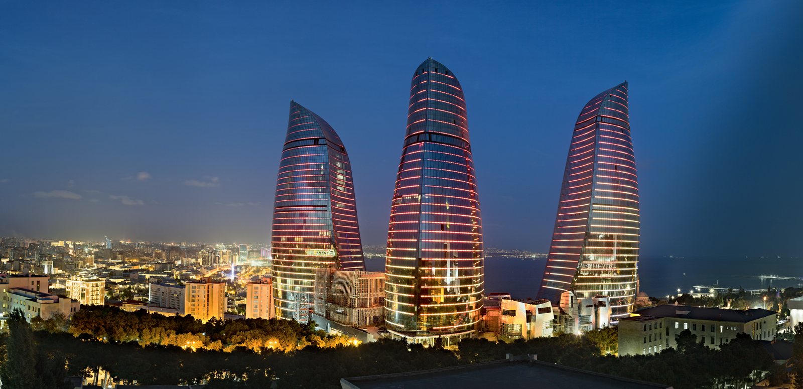 Flame tower Azerbaijan