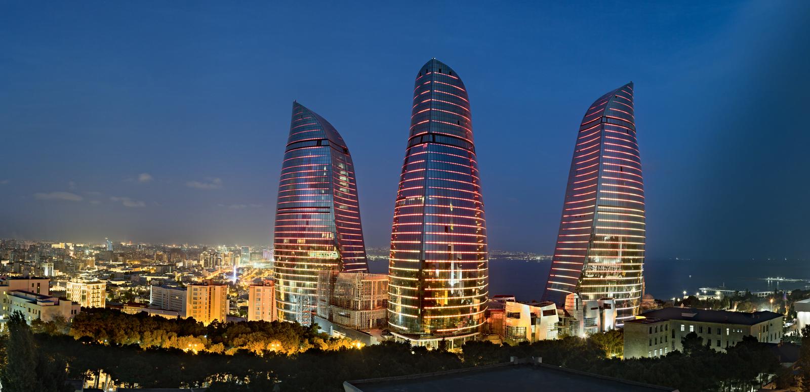 Flame tower Azerbaijan